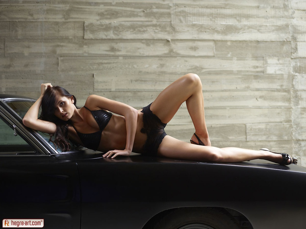 Hegre-Art erotic nude models – Tereza the Muscle car girl